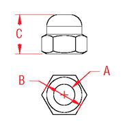 Line Drawing Acorn Nut