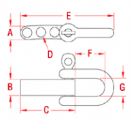 Drawing Bracelet Strap with Shackle