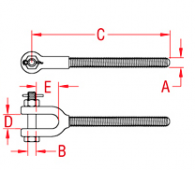 Turnbuckle Jaw Forged Drawing