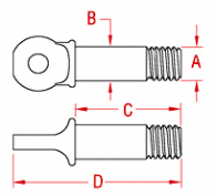 US Shackle Pin Drawing