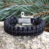 Bracelet Strap wit Survival Bracelet